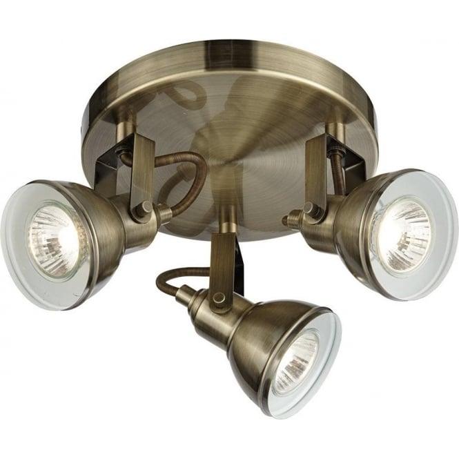 Searchlight 1543ab focus 3 light antique brass ceiling spotlight 1543ab focus 3 light ceiling spotlight antique brass aloadofball Choice Image
