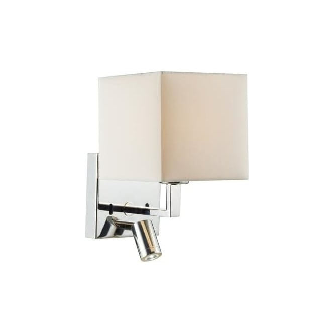 anvil 2 light switched wall light polished chrome