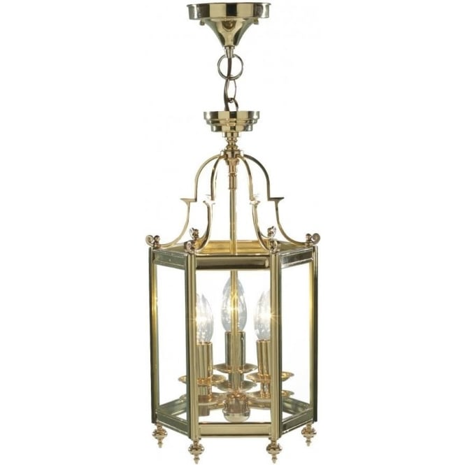 Traditional lantern moo0340 dr moorgate 3 light lantern moo0340 moorgate 3 light ceiling lantern polished brass mozeypictures Images