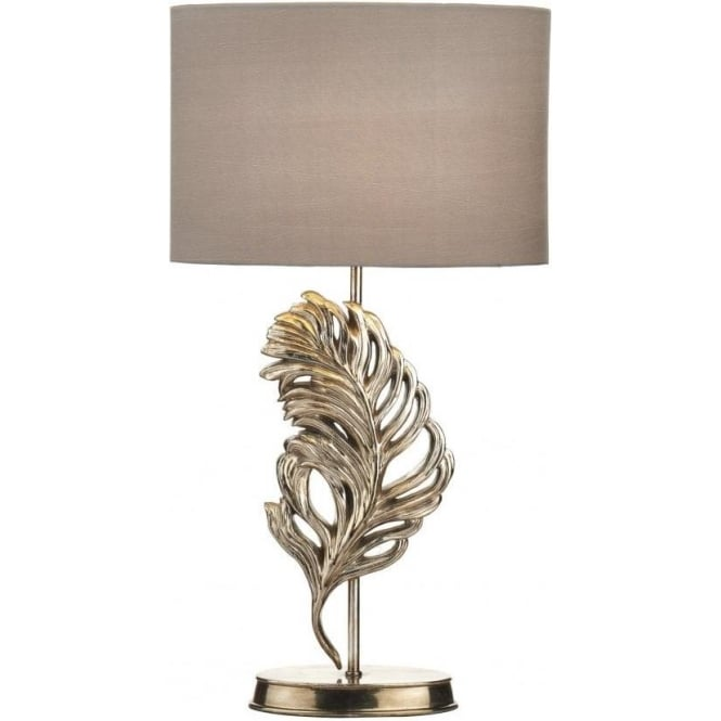 Gle4232 x glebe 1 light table lamp antique silver