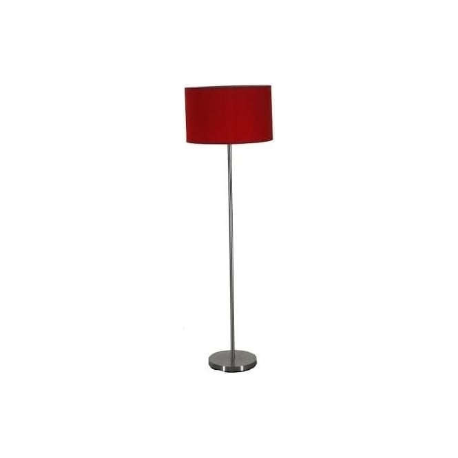 Retro Lighting PIPEFLOOR 1 Light Floor Lamp Satin Chrome
