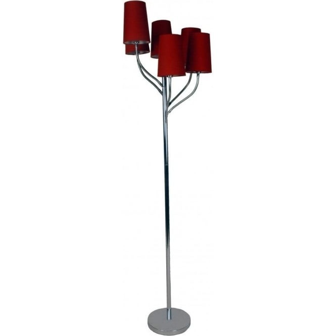 Retro Lighting OAKTREEFLOOR Oaktree 6 Light Floor Lamp Polished Chrome