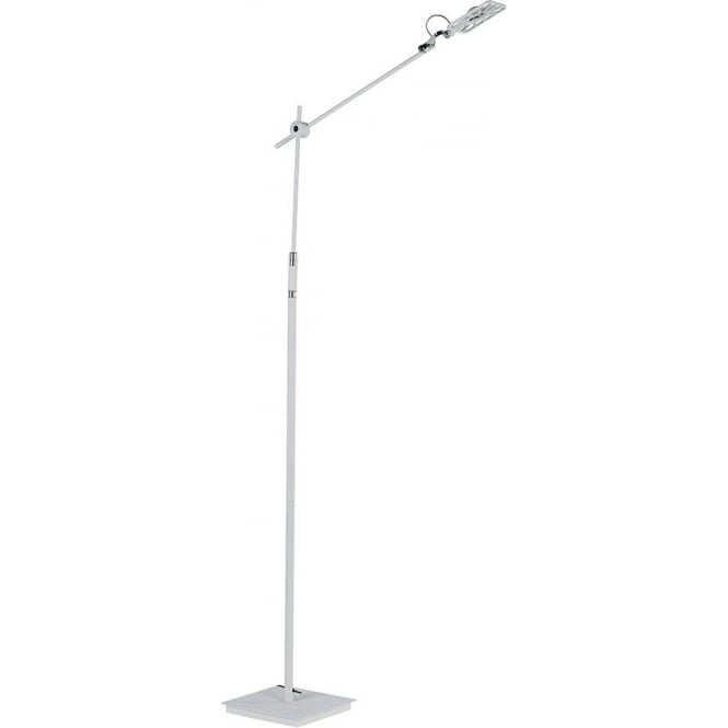 Searchlight 6262WH 1 Light LED Floor Lamp White With Square Head