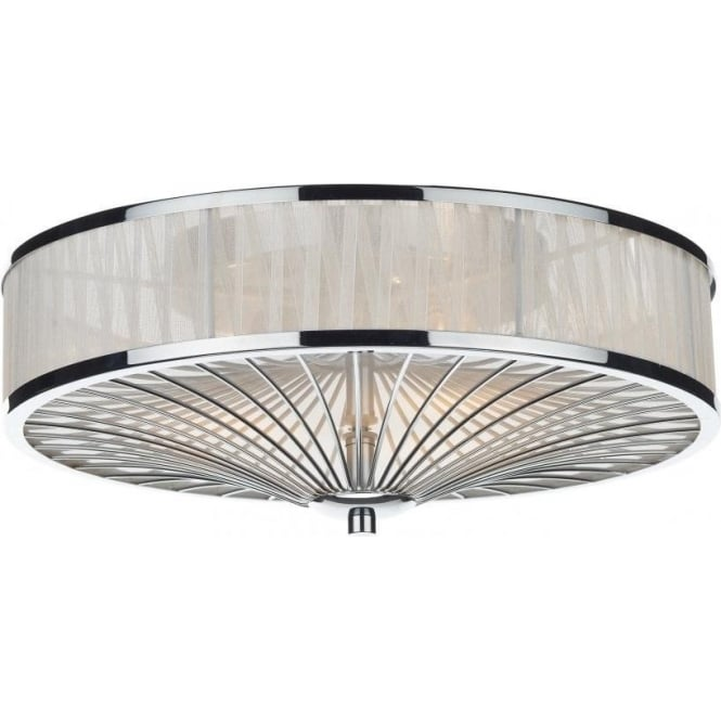led image fabric flush pasteri white ceiling light eglo