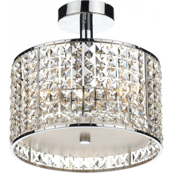 flush bathroom ceiling lights rho5350 bathroom ceiling light dar chrome 18366