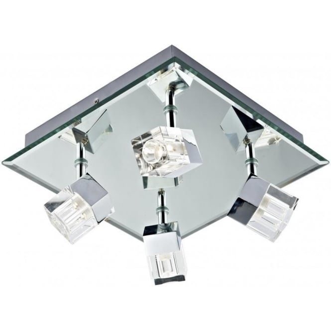 Led bathroom spotlight dar logic led log8550led log8550led logic 4 light led bathroom ceiling spotlight aloadofball Image collections