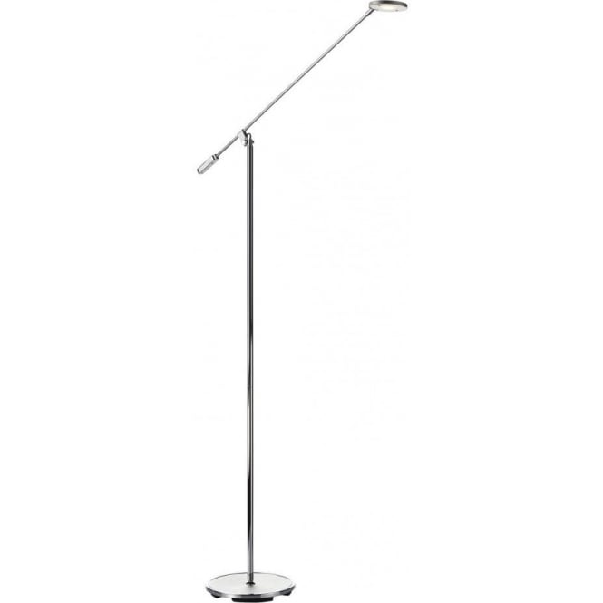 Dar PIL4950 Pilot 1 Light LED Floor Lamp Polished Chrome