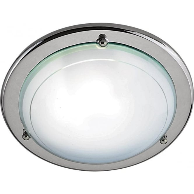 Searchlight 702CC Jupiter 1 Light Flush Ceiling Light Polished Chrome