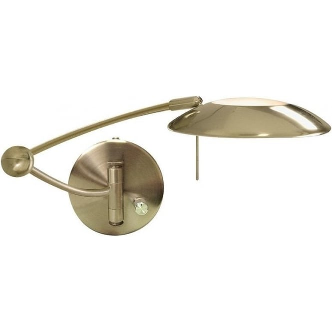 9850AB Adjustable Wall Lights 1 Light Wall Light Antique Brass