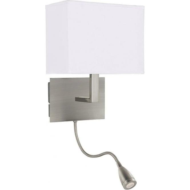 Bedroom Reading Wall Lights: 6519SS Wall Lights 2 Light Wall Light Satin Silver,Lighting