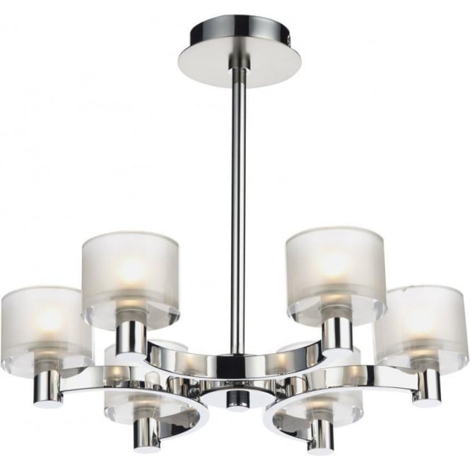 eto0650 eton 6 light semiflush ceiling light chrome