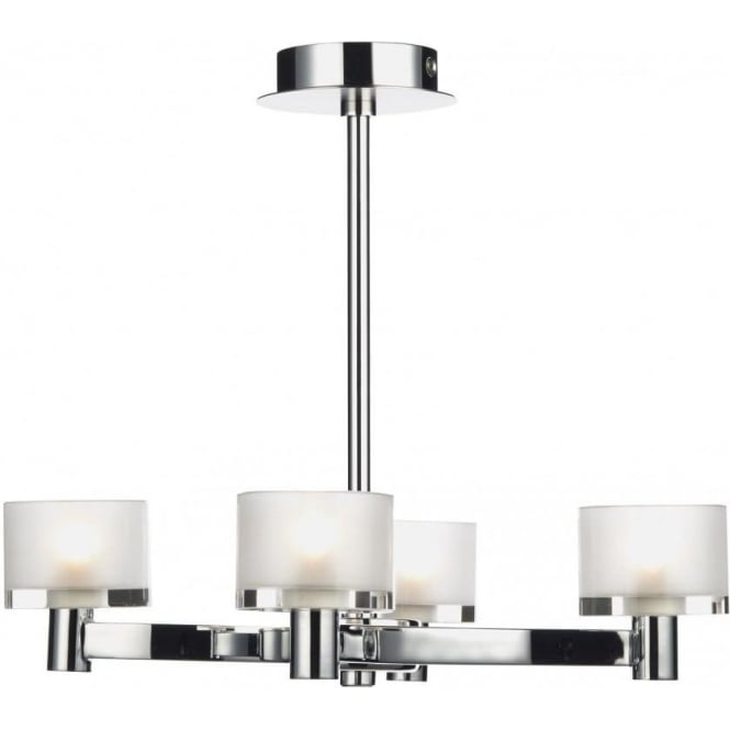 Dar ETO0450 Eton 4 Light Semi-Flush Ceiling Light Chrome