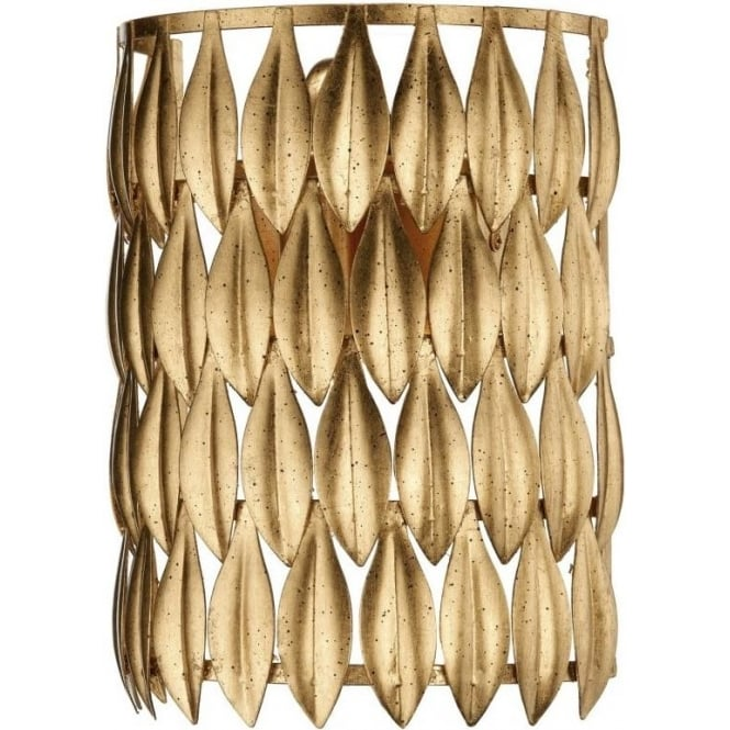 Dar VOL0735 Volcamo 1 Light Switched Wall Light Gold