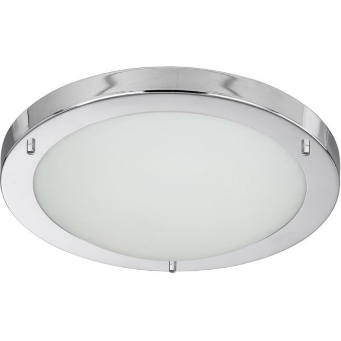 Searchlight 10633CC Bathroom Lights 1 Light Flush Ceiling Light Polished Chrome