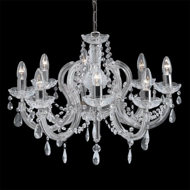 Searchlight 399-8 Marie Therese 8 Light Chandelier Polished Chrome
