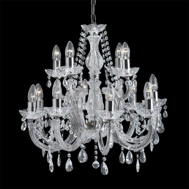 Searchlight 399 12 marie therese 12 light polished chrome chandelier 399 12 marie therese 12 light chandelier polished chrome aloadofball Choice Image