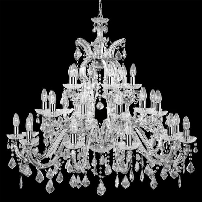 Searchlight 3314-30 Marie Therese 30 Light Chandelier Polished Chrome