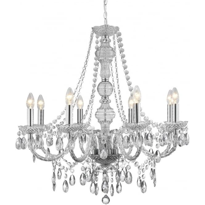Searchlight 8888-8CL Marie Therese 8 Light Chandelier Polished Chrome