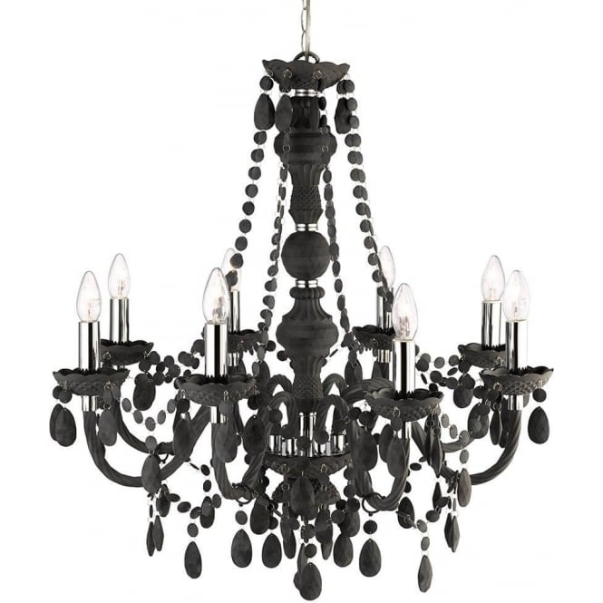 Searchlight 8888-8GY Marie Therese 8 Light Chandelier Grey