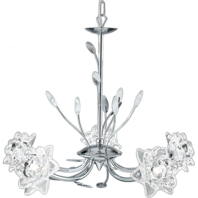 Searchlight 8285-5CC Bellis 5 Light Ceiling Light Polished Chrome