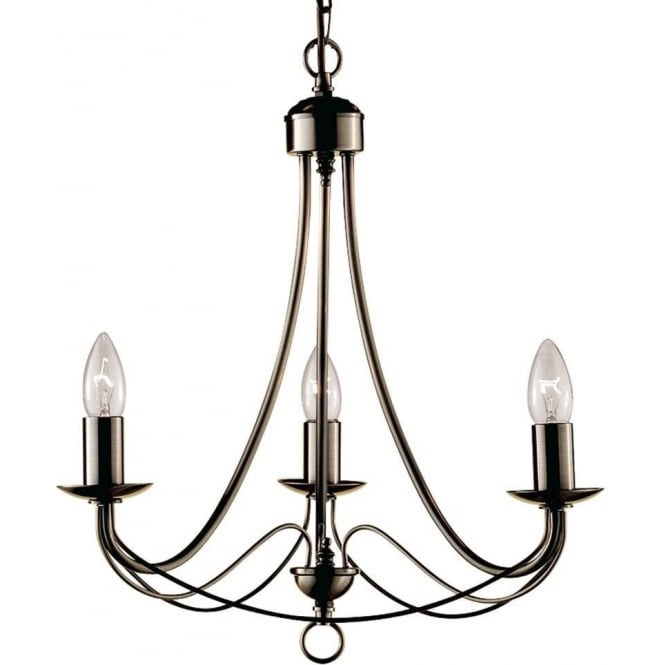 Searchlight 6343-3AB Maypole 3 Light Ceiling Light Antique Brass