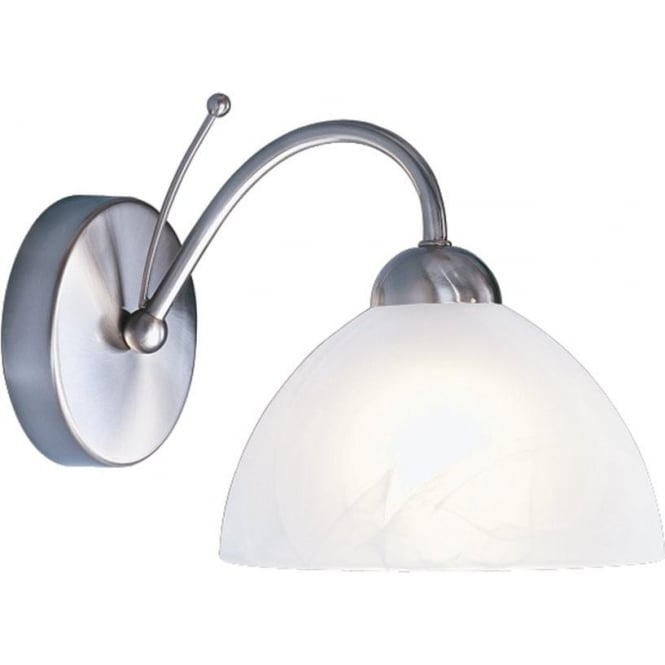 Searchlight 1131-1SS Milanese 1 Light Wall Light Satin Silver