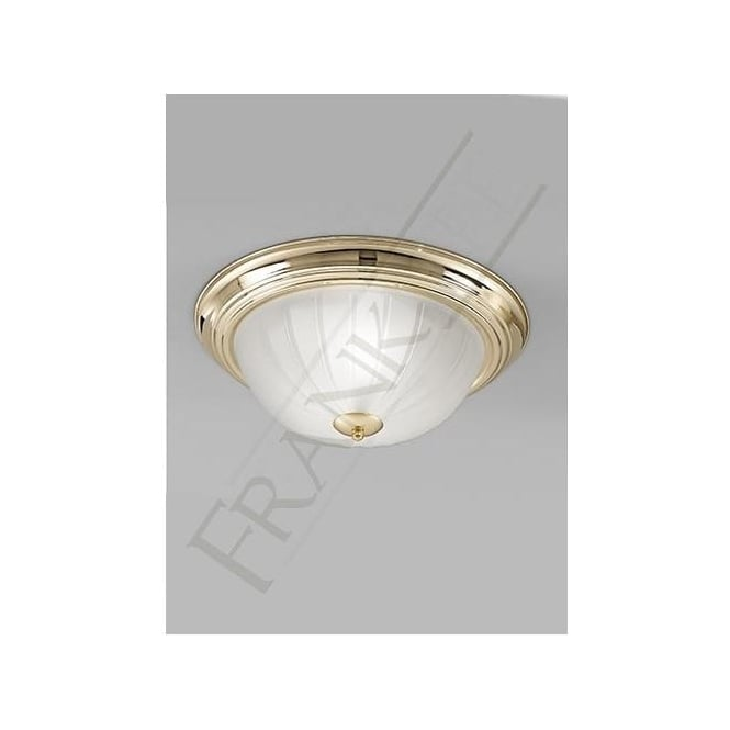 Franklite CF5639 2 Light Flush Ceiling Light Polished Brass