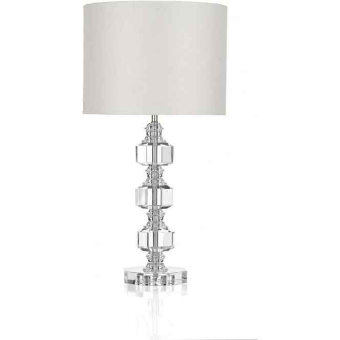 newest d8c56 0fdd3 ACT4208 Acton 1 Light Crystal Table Lamp Polished Chrome