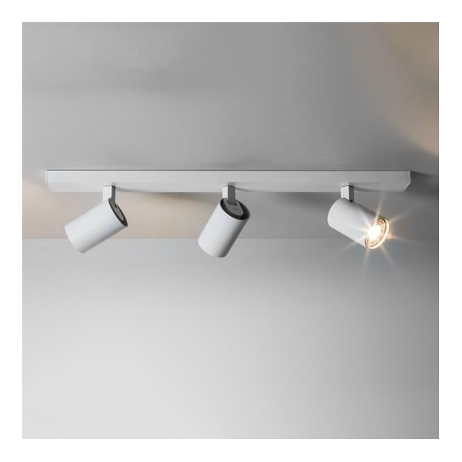Astro 6144 ascoli 3 light wall spotlight white 6144 ascoli triple bar 3 light spotlight white aloadofball Image collections