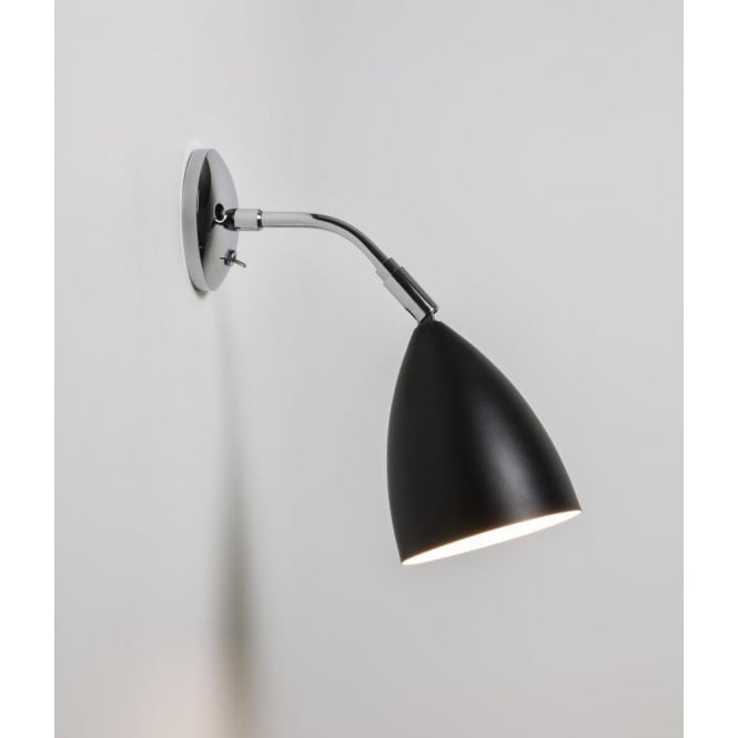 Astro 7157 joel wall switched wall light blackpolished chrome 7157 joel wall 1 light switched wall light black and polished chrome aloadofball Image collections
