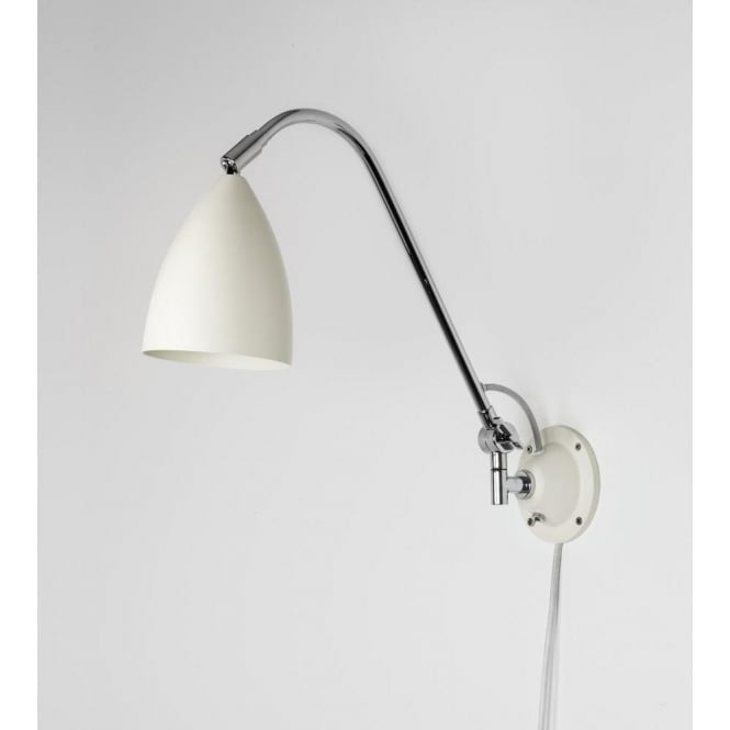 Astro Joel Grande Wall Switched Wall Light Cream - Bedroom reading lights with switch