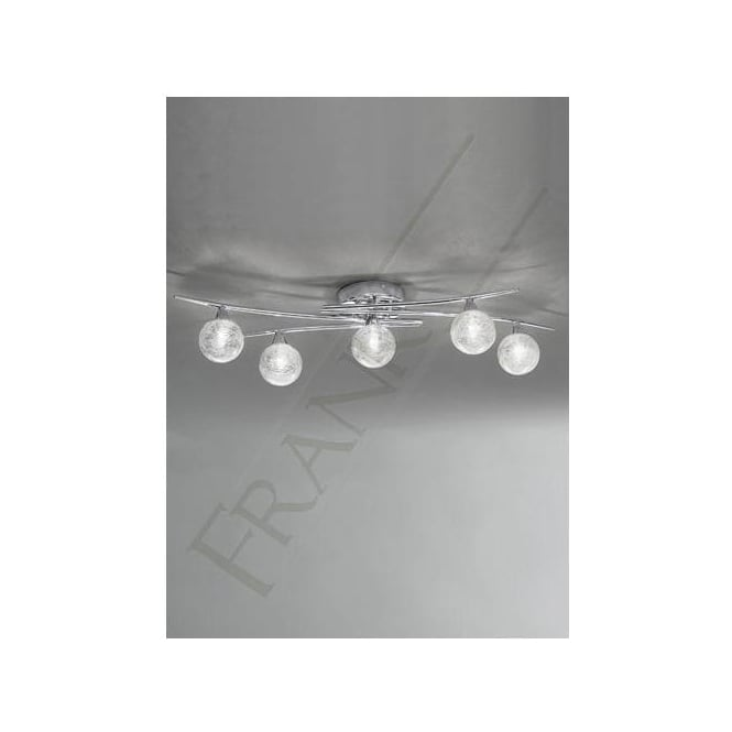 Franklite FL2297/5 Shardice 5 Light Ceiling Light Polished Chrome
