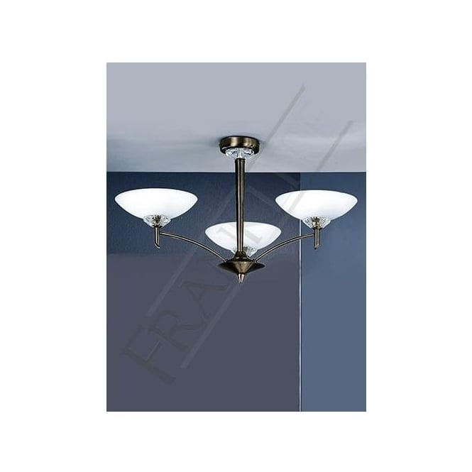 Franklite FL2010/3 Fizz 3 Light Ceiling Light Bronze