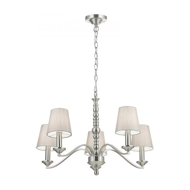 Endon ASTAIRE-5SN Astaire 5 Light Ceiling Light Satin Nickel