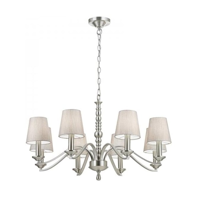 Endon ASTAIRE-8SN Astaire 8 Light Ceiling Light Satin Nickel