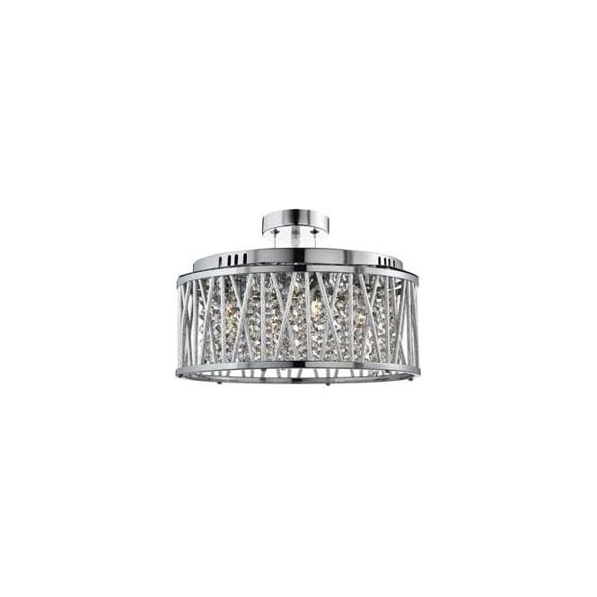 Crystal lighting pendant lights 8335 5cc elise 5 light crystal ceiling pendant polished chrome aloadofball Image collections