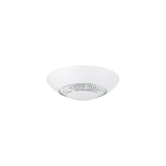Searchlight 4548-36WH Halo LED Flush Ceiling Light Matt White