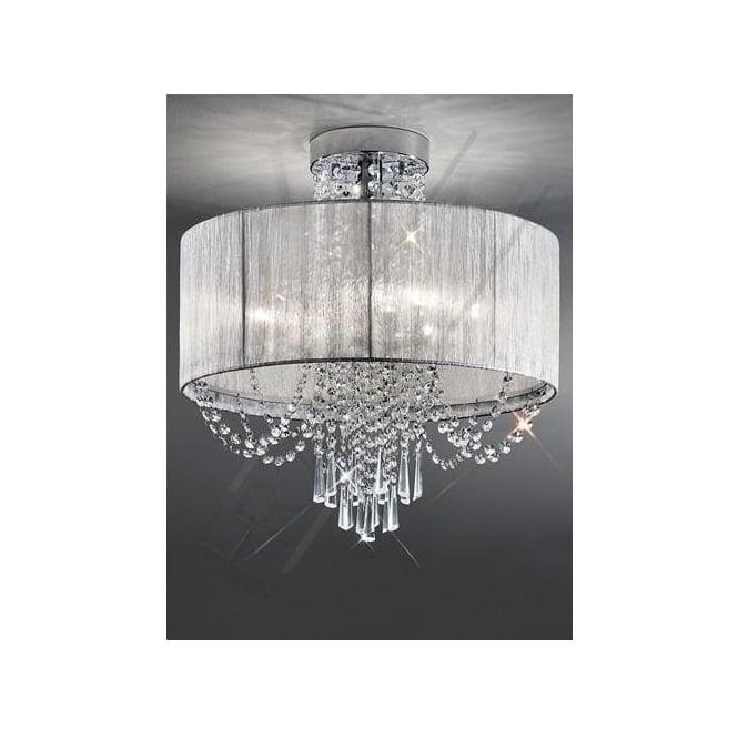 fl23036 empress 6 light crystal ceiling light polished chrome
