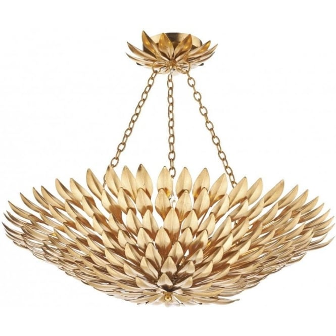 Dar VOL5435 Volcano 5 Light Ceiling Pendant Gold
