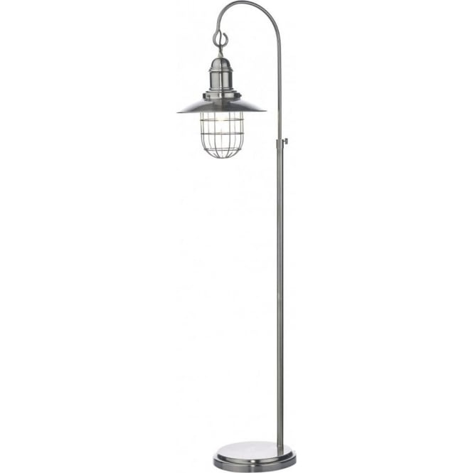 Dar TER4961 Terrace 1 Light Floor Lamp Antique Chrome