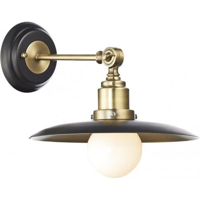 Dar han0754 hannover wall light 1 light blackantique brass wall han0754 hannover 1 light wall light antique brassblack aloadofball Gallery