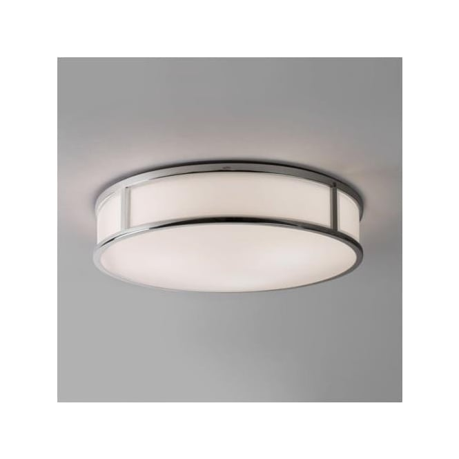 Astro 7421 Mashiko Round 400 Flush Ceiling Light IP44 Polished Chrome
