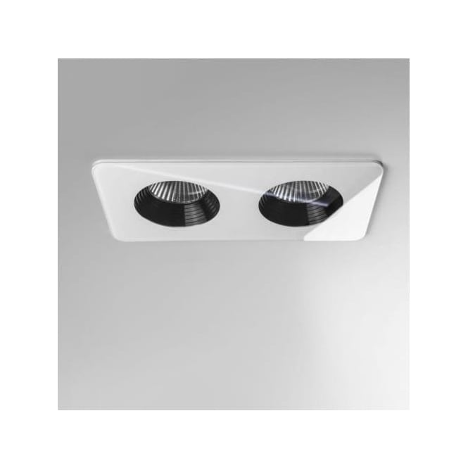 Astro 5669 Vetro Twin 2 Light Twin LED Downlight IP65 White