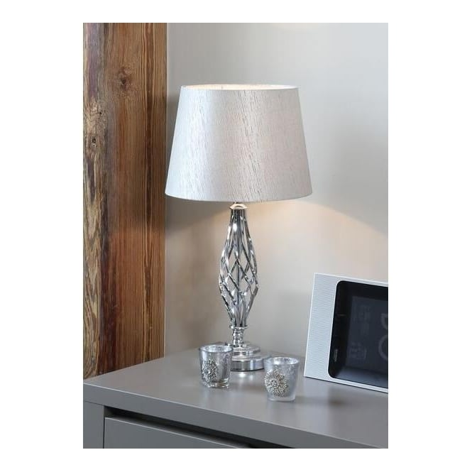 Jenna metal table lamp silver · pacific lifestyle