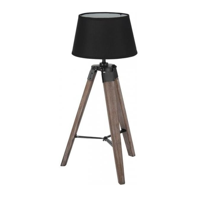 30 137 C Windsor Small Tripod Table Lamp Wood