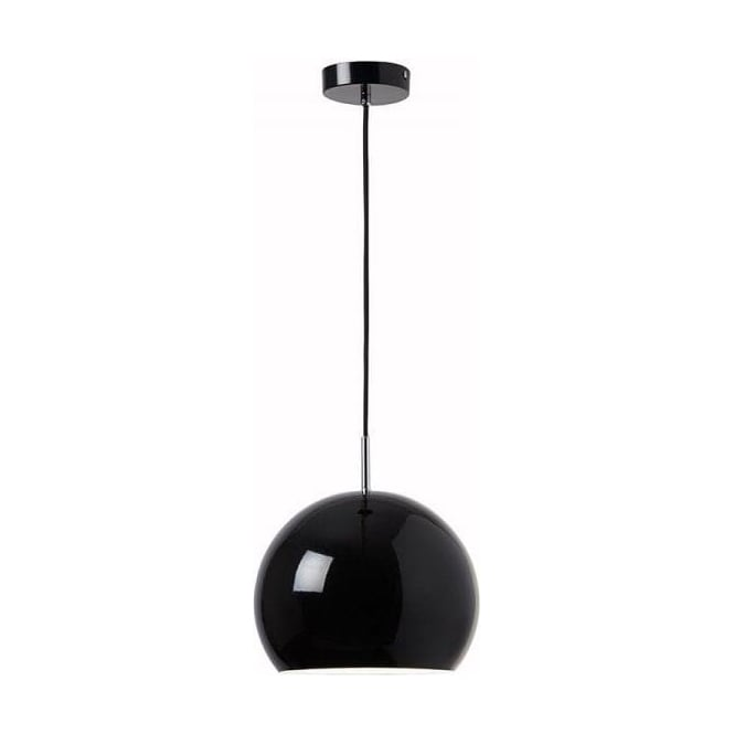 Endon ALZIRA-BL Alzira 1 Light Ceiling Pendant Black
