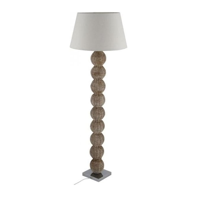 Pacific Lifestyle 32-025-BO Raffles Rattan Ball Floor Lamp Cream Wash