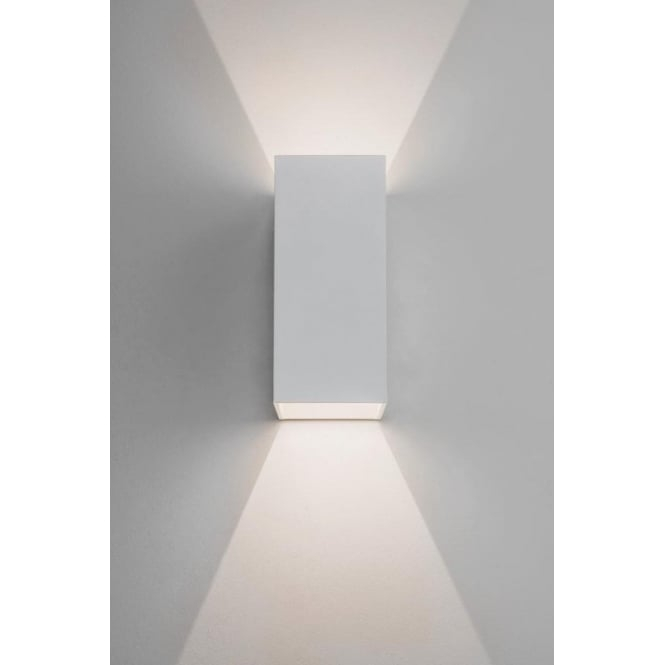 Low voltage wall lights 7494 oslo 160 2 light led outdoor wall light ip65 white aloadofball Images