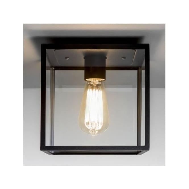 Astro 7389 Box 1 Light Outdoor Flush Ceiling Light Black