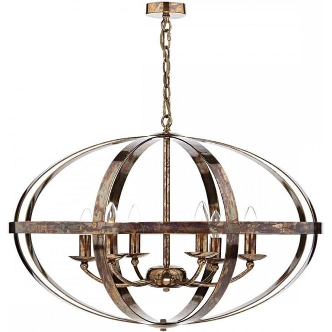 Dar SYM0664 Symbol 6 Light Ceiling Light Petrol Copper